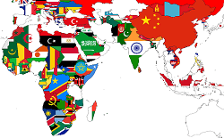 africa and asia flags