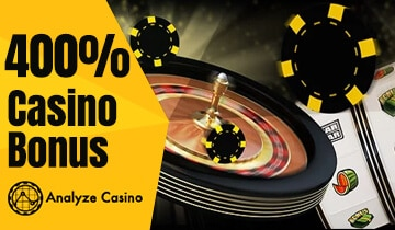 The Best 400 Bonus Casino Deals In 2021 Get Them Now Analyzecasino Com