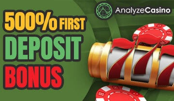 500% first deposit bonus