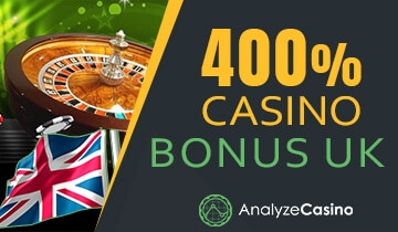 400 casino bonus UK