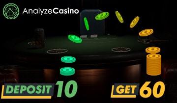 Deposit 10 Get 60 Casino Bonuses 2020 2021 Analyzecasino Com